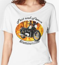 Triumph Bonneville Fast and Fierce Women's Relaxed Fit T-Shirt