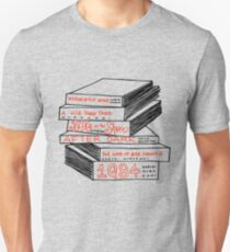 Haruki Murakami Buchstapel Slim Fit T-Shirt
