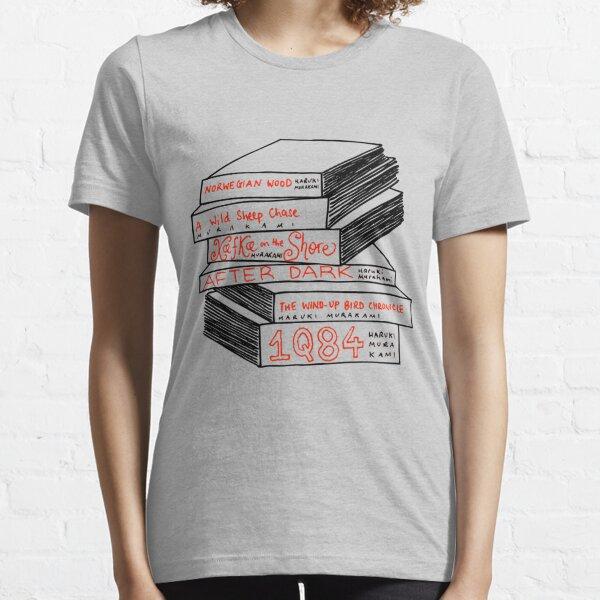 Pile de livre Haruki Murakami T-shirt essentiel