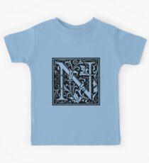 William Morris Renaissance Style Cloister Alphabet Letter N Kids Clothes