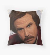 Ron Burgundy-The Anchorman Throw Pillow