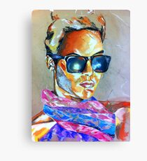 Bright pastel portrait Canvas Print