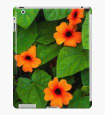 Black eyed Susan bright orange flowers iPad Case/Skin