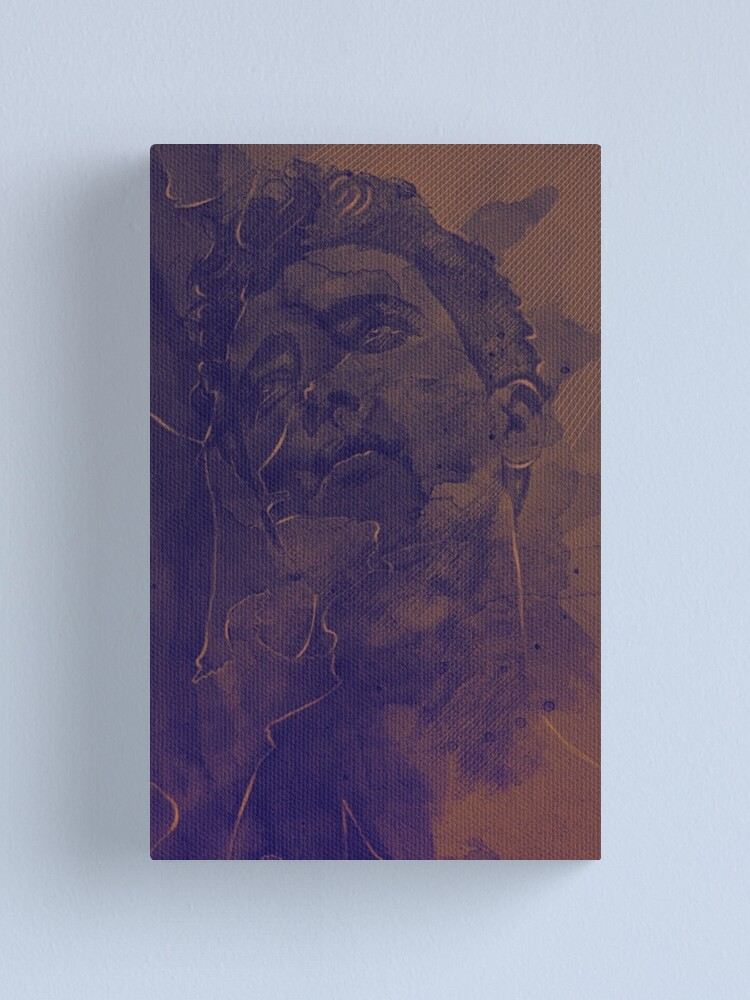 Alternate view of Portrait drawing and digital watercolor  Canvas Print