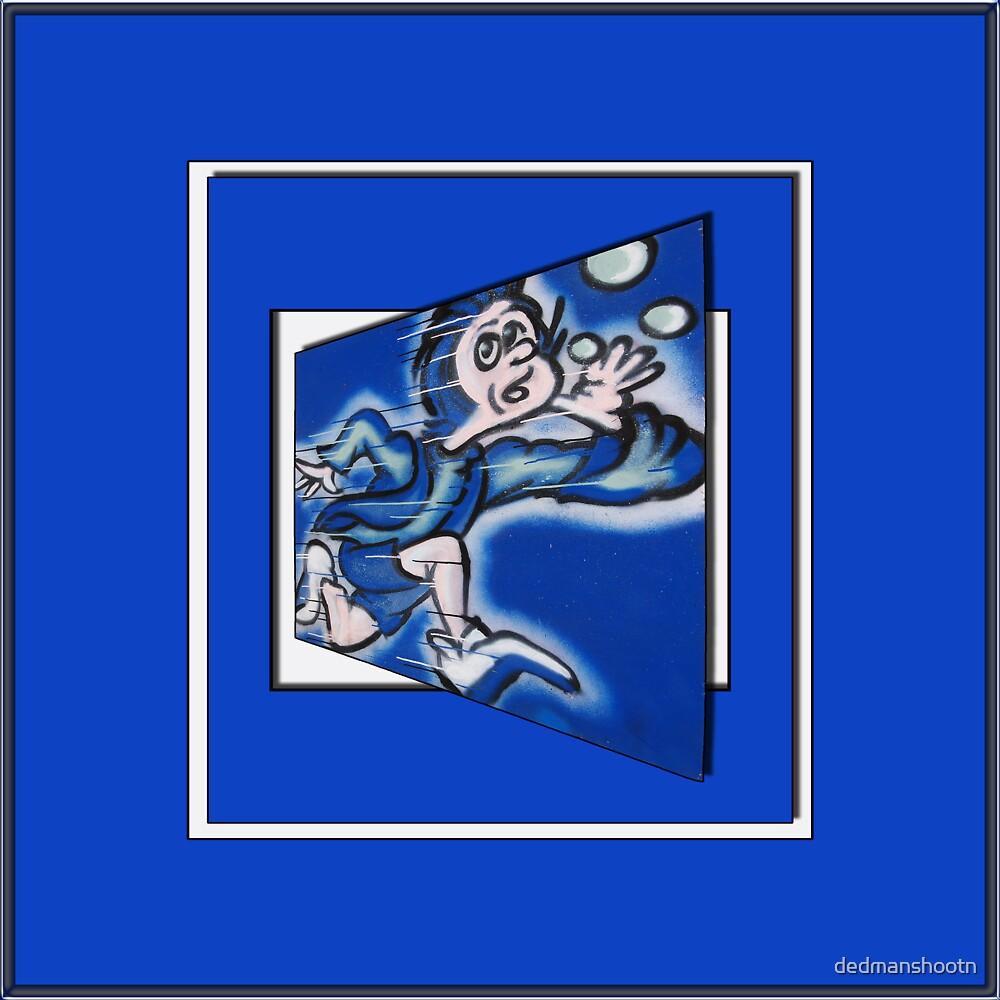 blue boy runnin' (sq full frame) by dedmanshootn