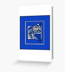 blue boy runnin' (sq full frame) Greeting Card