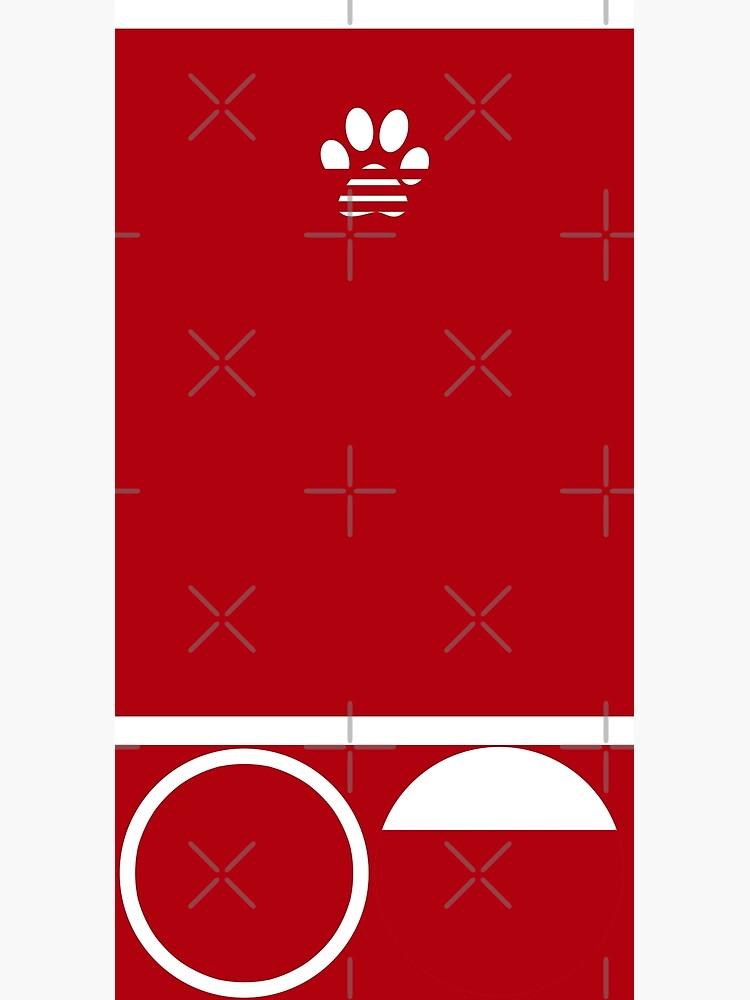 Red Paw Print by kleynard
