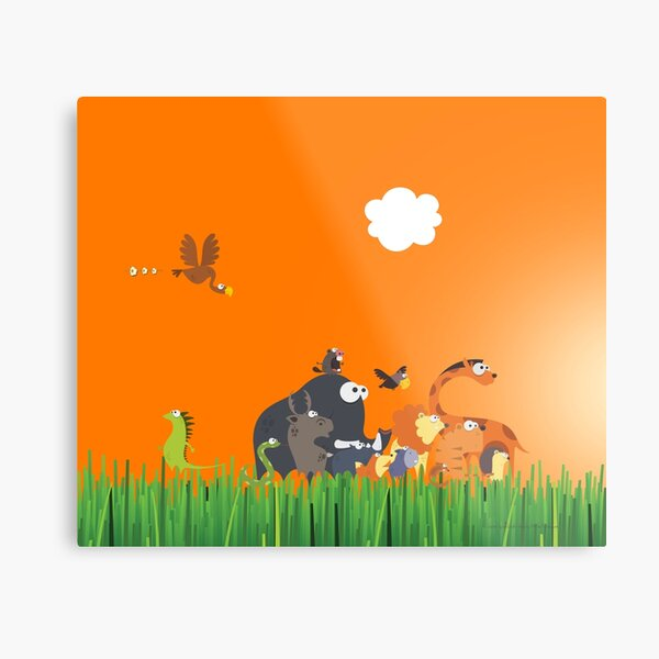 What's going on in the jungle? Metal Print