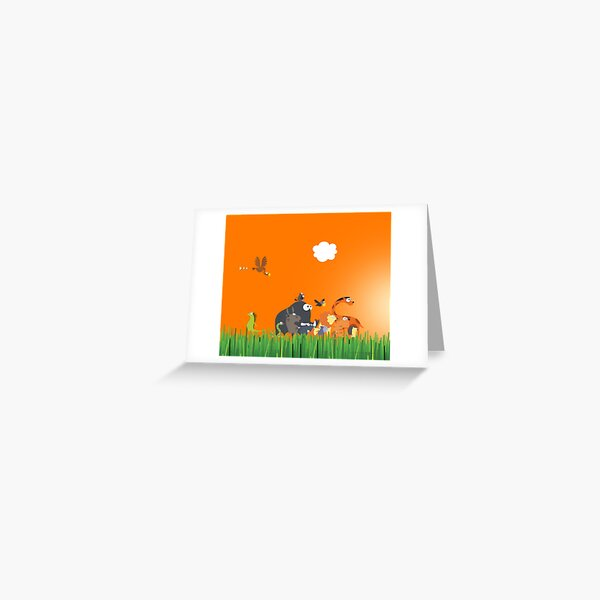 What's going on in the jungle? Greeting Card