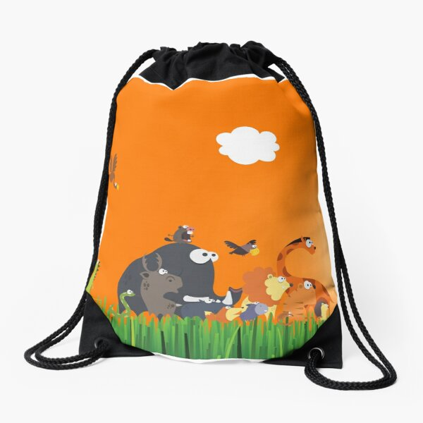 What's going on in the jungle? Drawstring Bag
