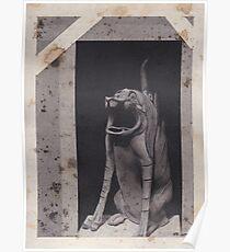 Asian Gargoyle Sculpture Poster