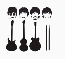 The Beatles and their instruments. | Unisex T-Shirt