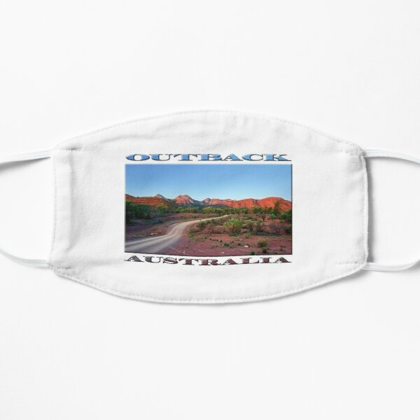 Outback Trail (poster on white) Flat Mask