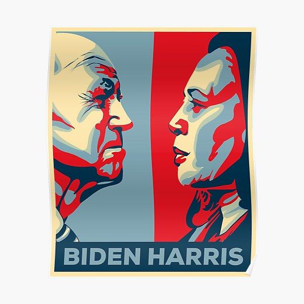 Joe Biden Kamala Harris 2020 (Hope Poster Remake) Poster