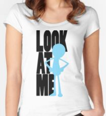 Look At Me Fitted Scoop T-Shirt