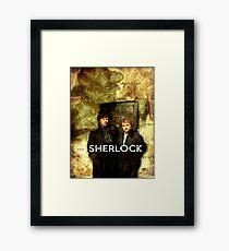 Sherlock Holmes Map by Hannahrain Framed Print