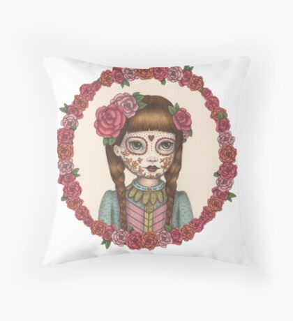 The Little Sister - Sugarskull sisters Throw Pillow