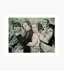 3 Stooges and Putin in a Conga Line Art Print