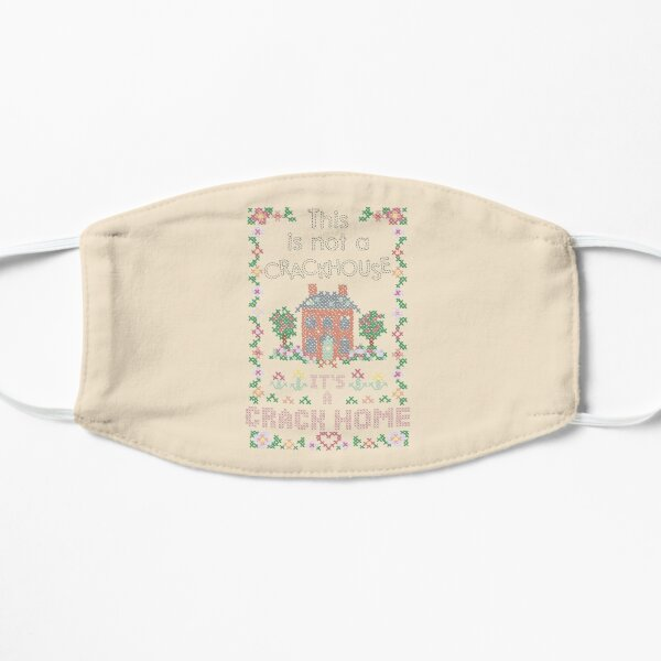 A Crack Home - cross stitch embroidery Mask