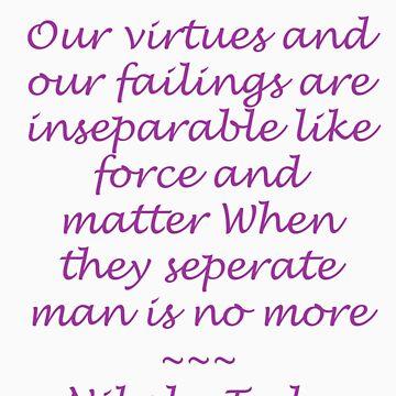 Nikola Tesla Quote - Purple lettering by atheosalio