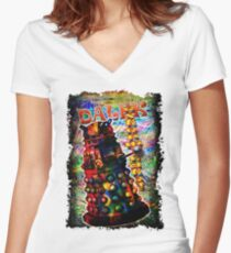 Dalek - Exterminate! by Mark Compton Women's Fitted V-Neck T-Shirt