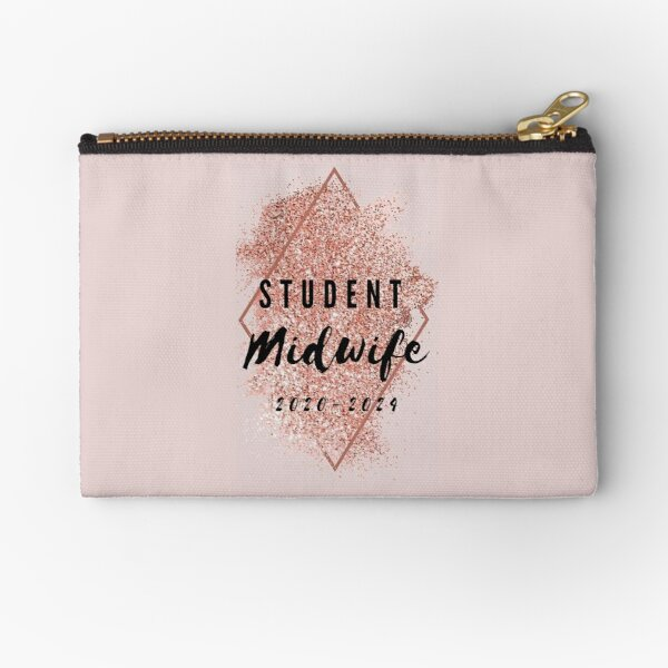 Sparkly Student Midwife 2020-2024 Zipper Pouch