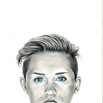 Miley Cyrus Wrecking Ball Portrait by tiffany8433