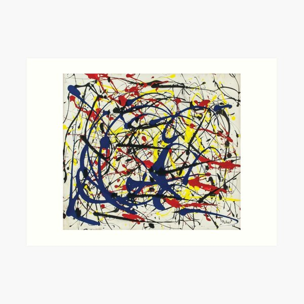 Jackson Pollack - Lote no 234 Lámina artística