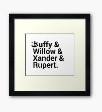 Buffy The Vampire Slayer Names  Framed Print