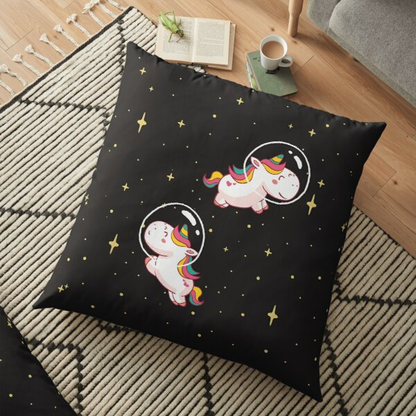 Space Unicorn Classic By graphicmeyou Floor Pillow