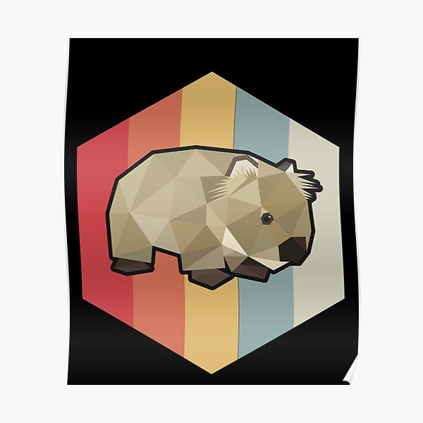 Funny Wombat Gift Poster
