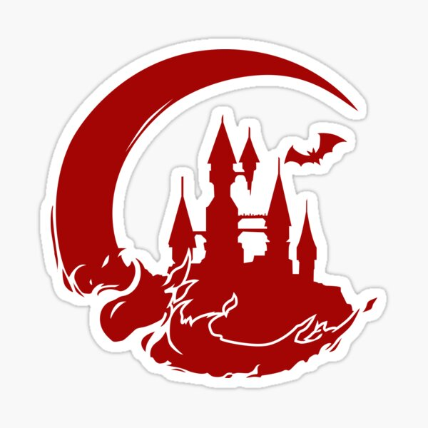 Castlevania Moon & Castle Sticker