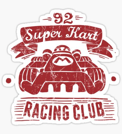 Kart Racing Club Sticker