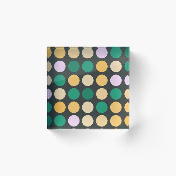 Colorful dots Acrylic Block