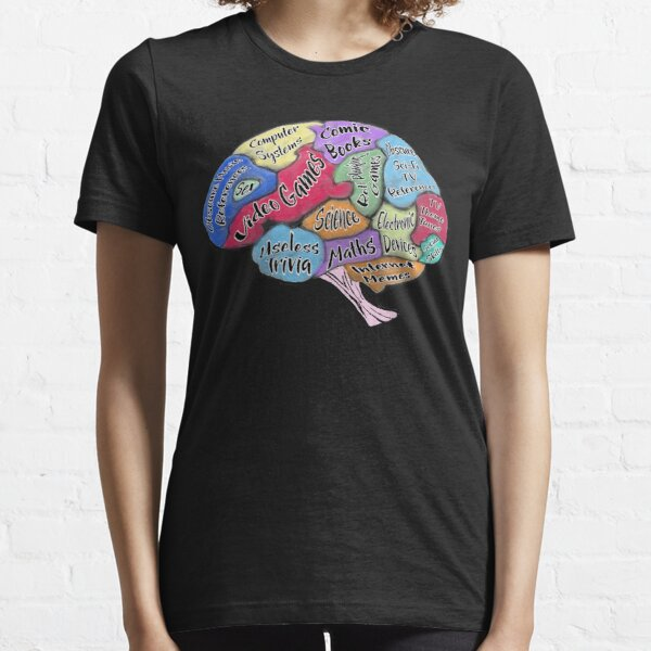 The Geek Brain - Geek Brain Thinks of Video Games, Science, Maths, Useless trivia, obscure sci-fi references, Internet memes and More Essential T-Shirt
