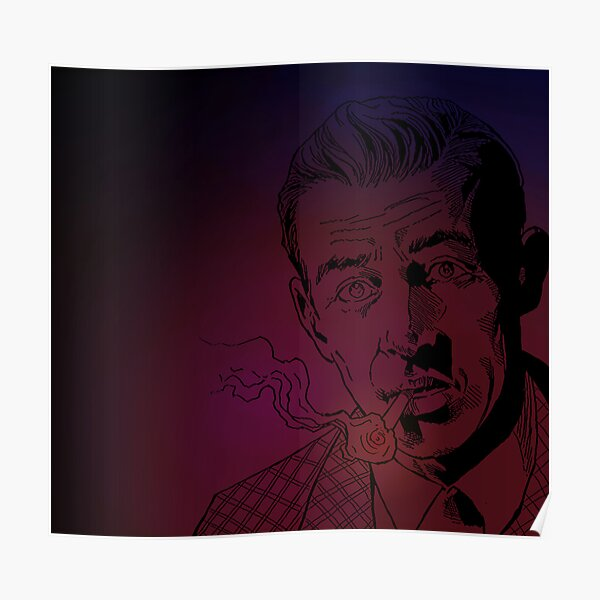 Benny Inked - Red Glow Poster