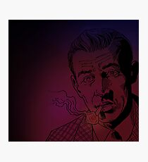 Benny Inked - Red Glow Photographic Print