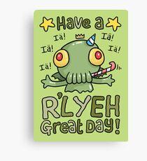 Cthulhu Birthday Card! Leinwanddruck