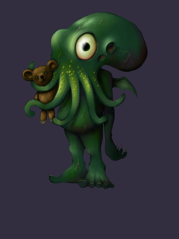 H P Lovecraft Baby Cthulhu with Teddy von astralsid