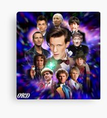 Doctor Who 50th Anniversary - All Doctors Canvas Print