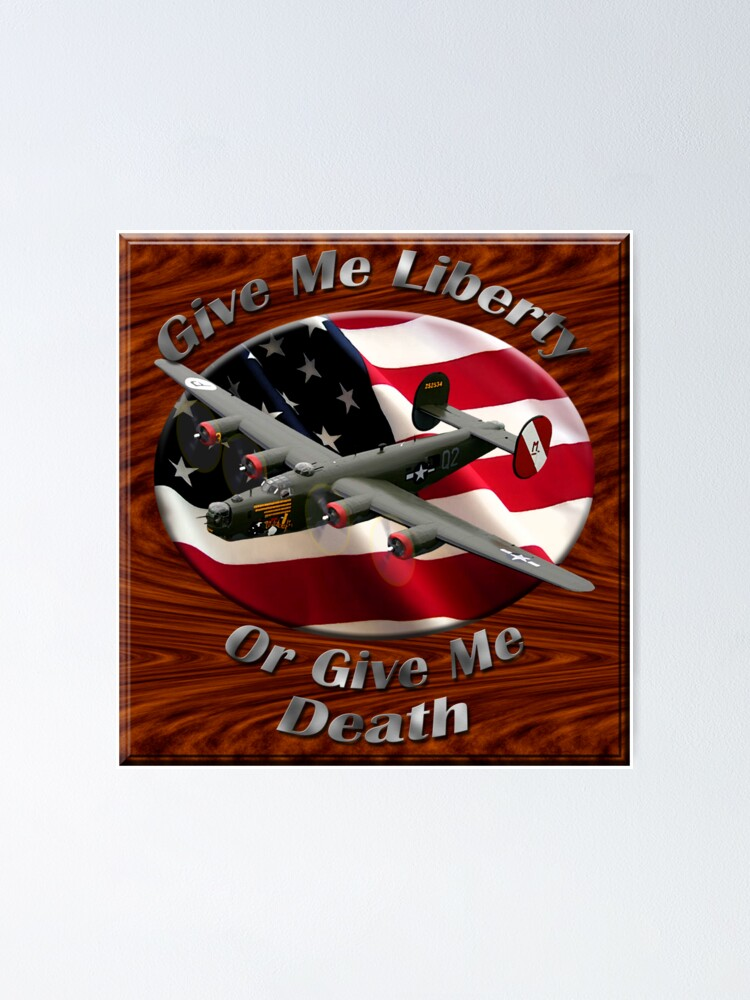 Alternate view of B-24 Liberator Give Me Liberty Poster