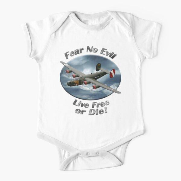 B-24 Liberator Fear No Evil Short Sleeve Baby One-Piece