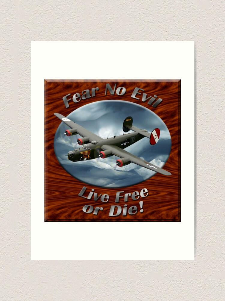 Alternate view of B-24 Liberator Fear No Evil Art Print
