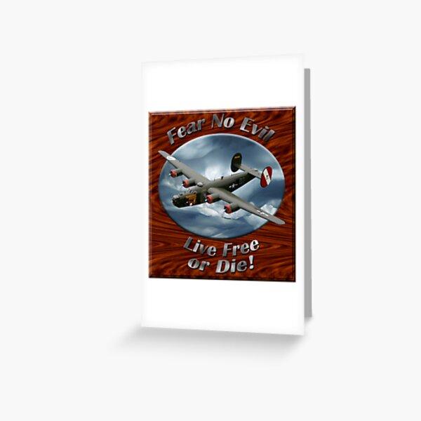 B-24 Liberator Fear No Evil Greeting Card