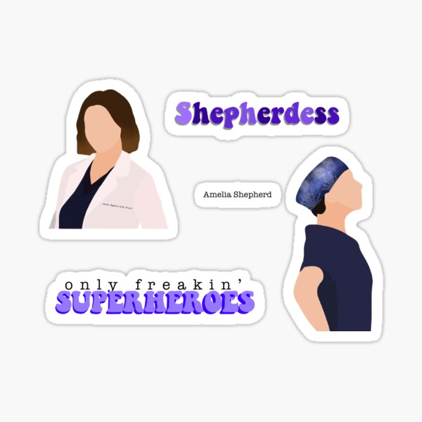 Amelia Shepherd sticker pack Sticker