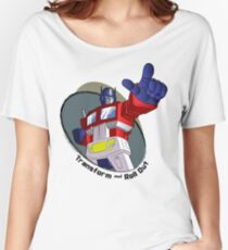 Optimus Prime - Transform and Roll Out Women's Relaxed Fit T-Shirt