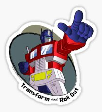 Optimus Prime - Transform and Roll Out Sticker