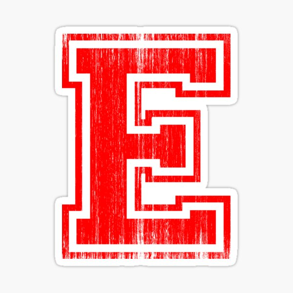 Big Red Letter E Sticker