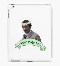 Hey Assbutt (Hipster Castiel) iPad Case/Skin