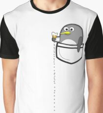 Pocket penguin enjoying ice cream Graphic T-Shirt